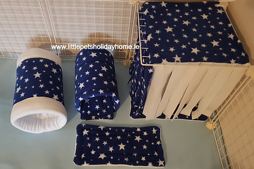Royal blue & white start - set of 6 items