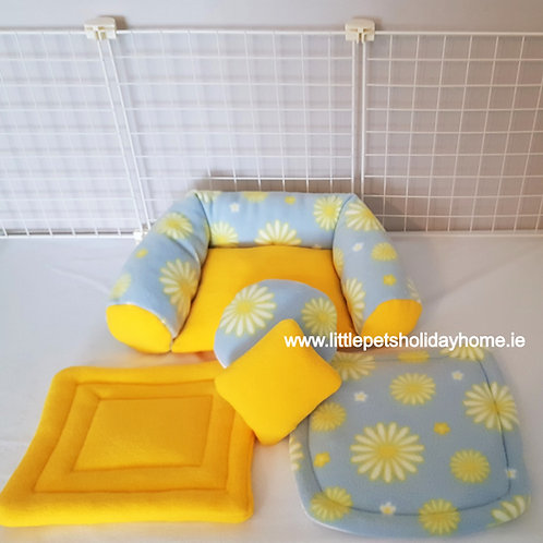 Sofa with 2 pee pads & 2 pillows