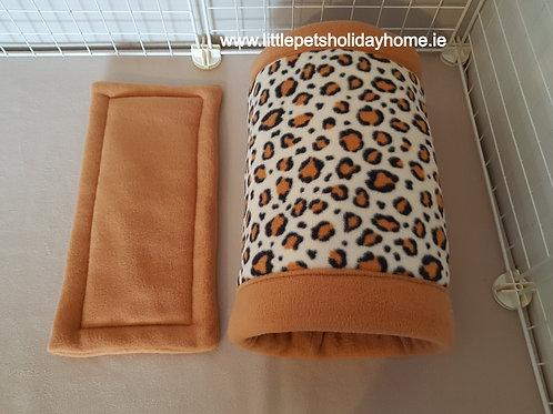 Fleece tunnel - Leopard print