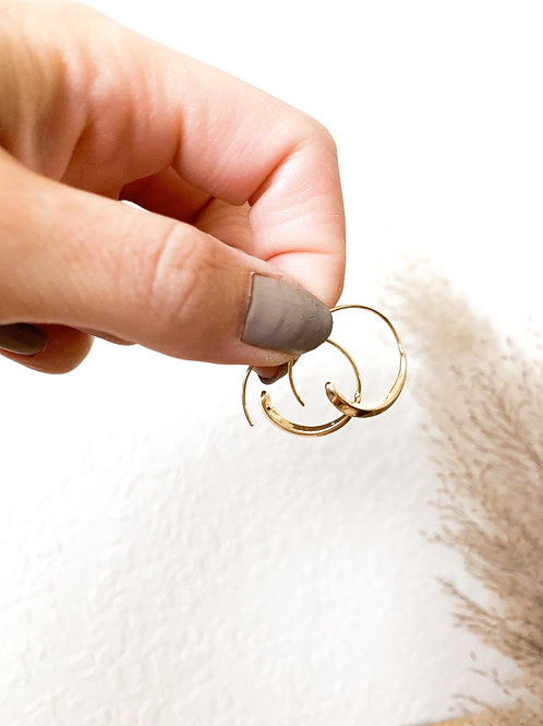Dainty Gold Thick + Thin Hoops