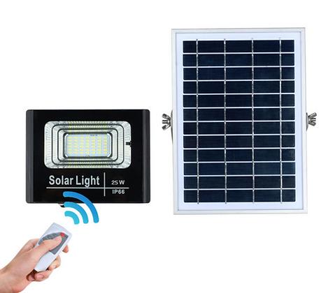 25W Reflector Led Solar (con control remoto)