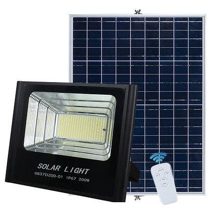 200W Reflector Led Solar (con control remoto)