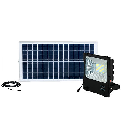 100W Reflector Led Solar (con botón on/off)