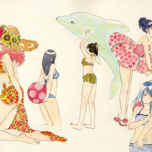 2015 girls swimwear