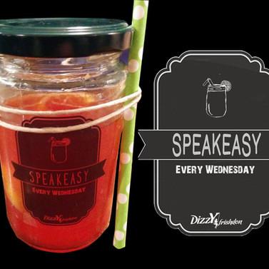 DIZZY - speakeasy jar lable