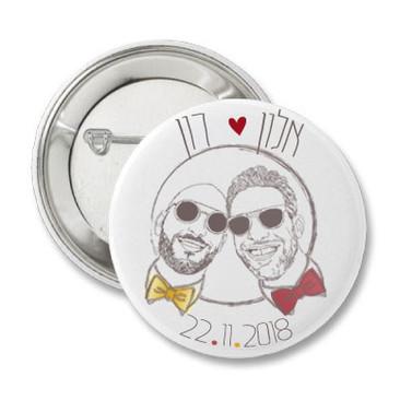wedding pins -  same language