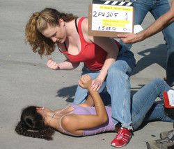 """On Set """"She Wore A Yellow Scrunchy"""""""