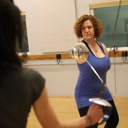 Alysha Sword Fight Training