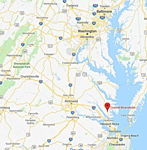 Environmental Toxicology Testing, Glouceser VA, Mid-Atlantic
