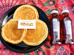 Kelly's Rose and Orange Blossom syrup are best on morning pancakes!