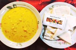 Kelly's Nokhod Aab Soup with Kelly's Plain Pita Bread