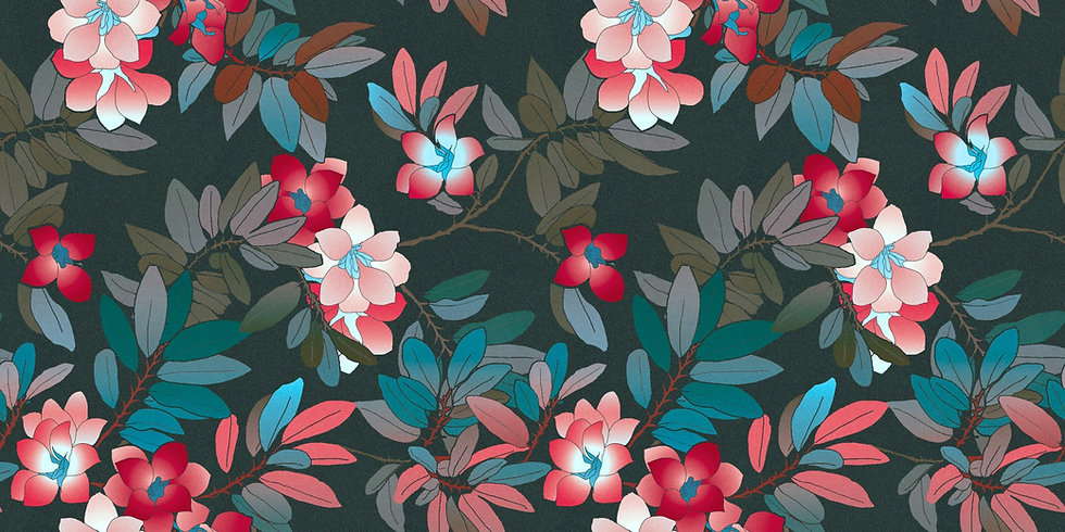Floral pattern on the background of the website