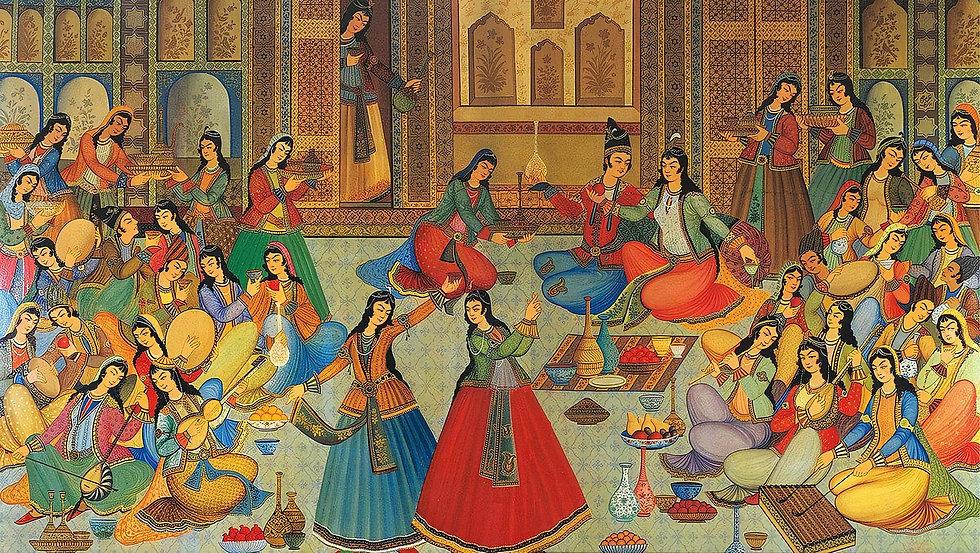 Historic Persian art showcasing the Persian culture