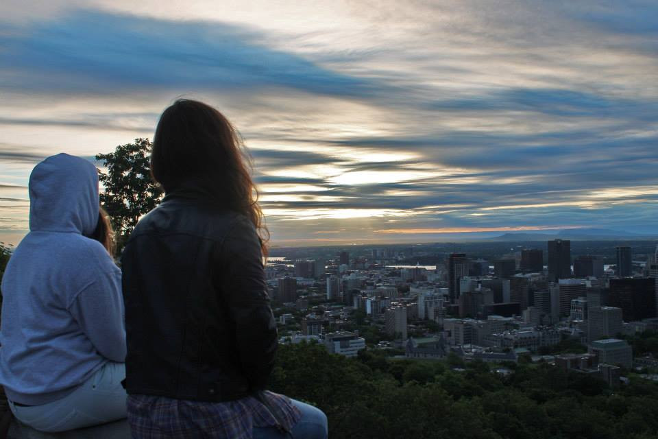 Montreal view sunset