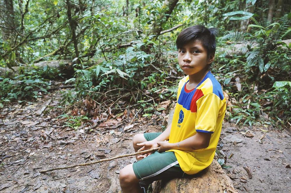 Vinicio dans la selva