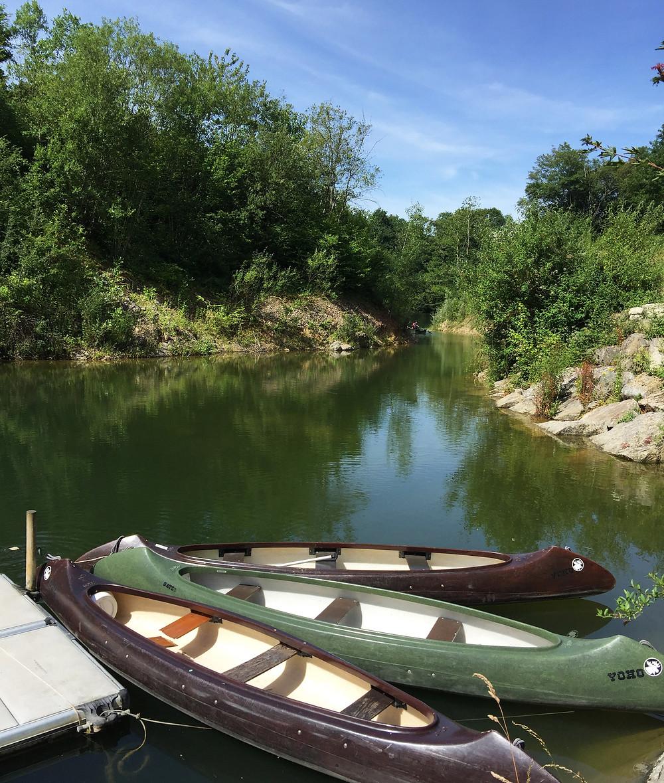 canoe sur le lac mayenne
