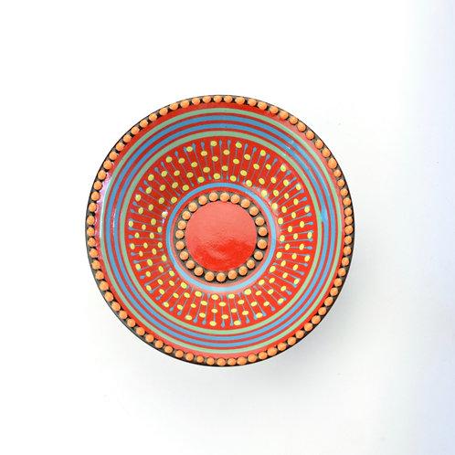 Round Dish 130mm Red # 3