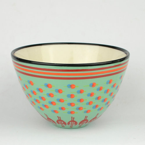 Bowl, Conical Teal 1