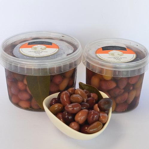 Ligurian Style Olives 350g tub