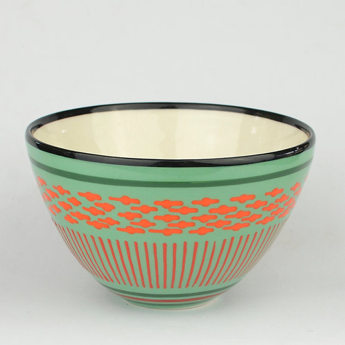 Bowl, Conical Teal 2