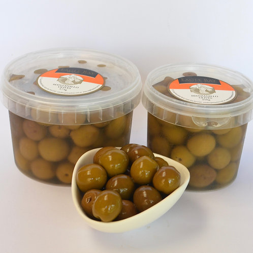 Green Manzanillo Olives 575g tub