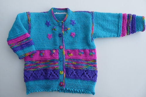 Girls Knitted Cardigan, 1 year old