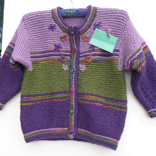 2 year old Girls Knitted Jacket
