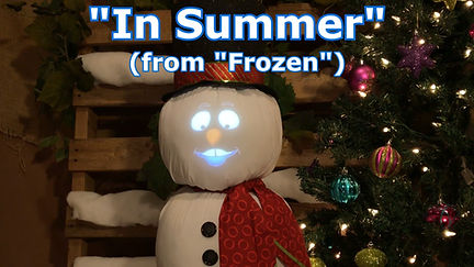 Snowman singing In Summer from Frozen