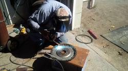 Welding new ring gear