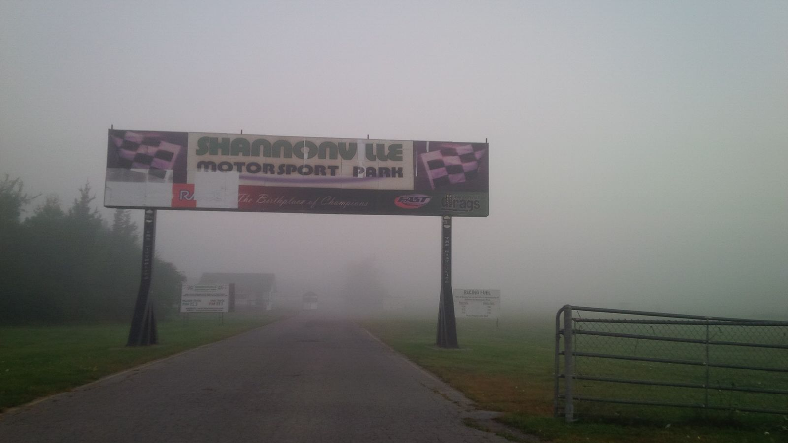 Foggy drive to Shannonville