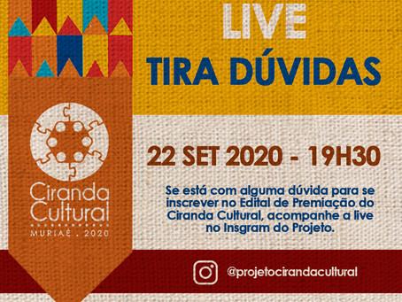LIVE TIRA-DÚVIDA NO INSTAGRAM