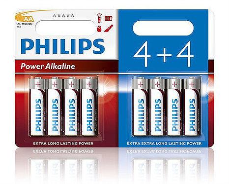 Philips Pack de Piles AA x8