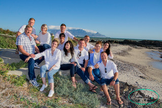 Familie foto sessie op Bloubergstrand!