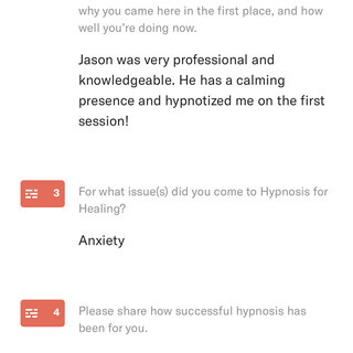 Hypnosis for anxiety