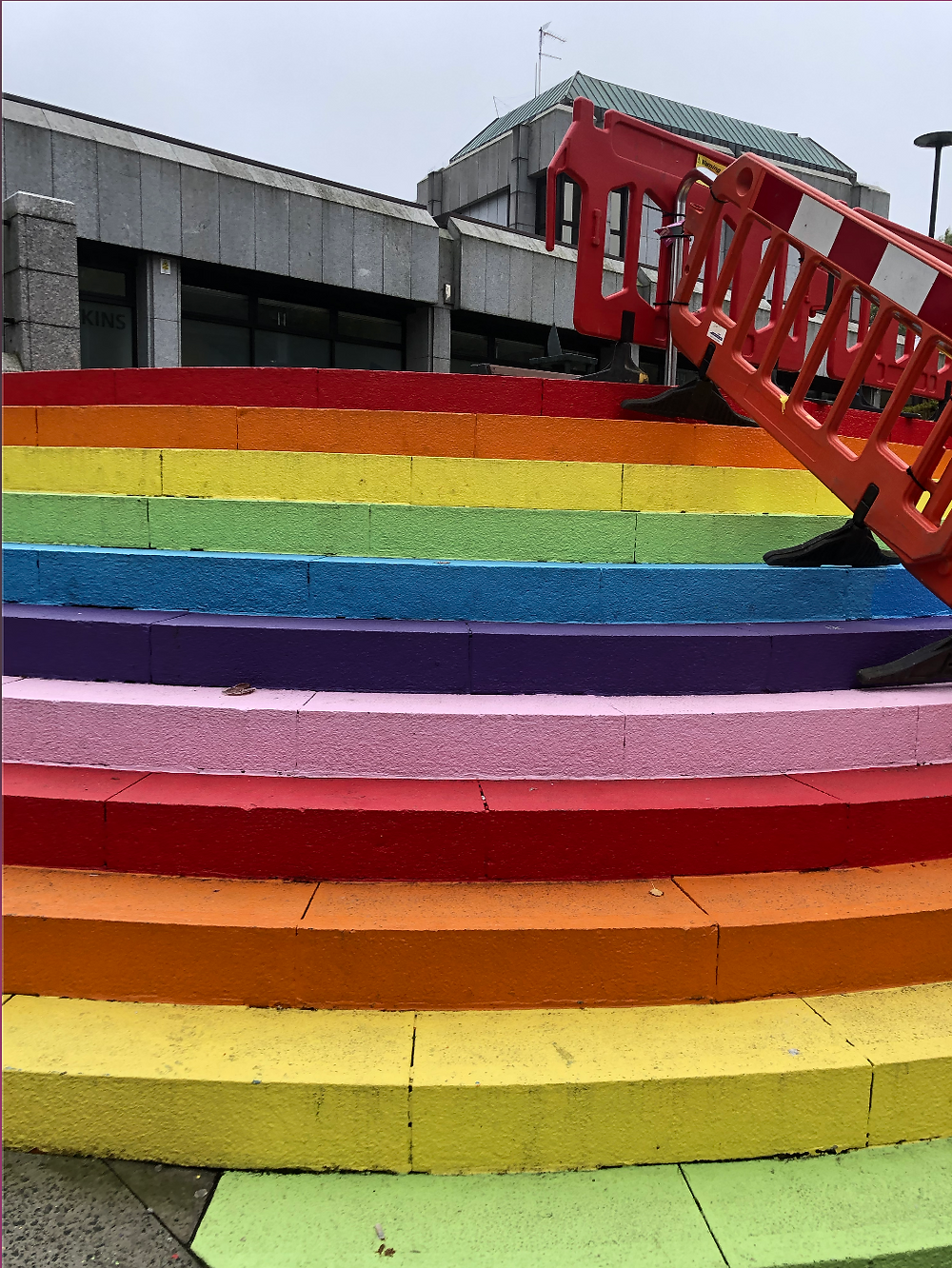RaInBoW steps and construction at Union Square, Aberdeen
