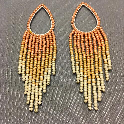 SunriseTeardropFringe Earrings