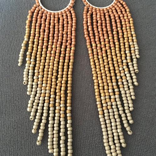 Sunrise fringe earrings