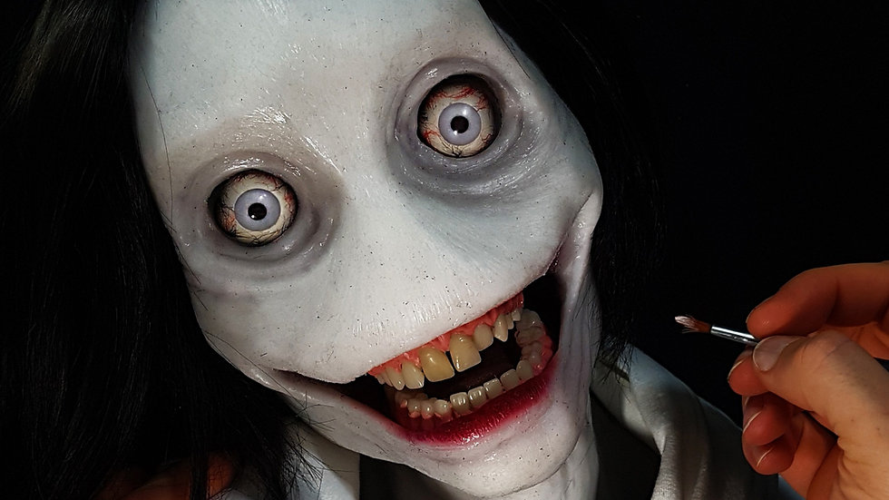 Jeff the Killer - LoreCraft premium platinum silicone bust