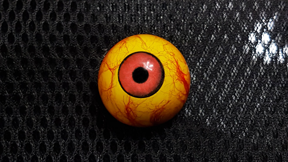 "Red and Yellow ""Crayton"" eye"
