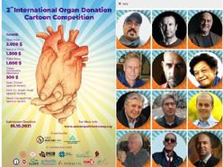 JURY MEMBERS of the 2nd INTERNATIONAL ORGAN DONATION CARTOON COMPETITION-2021, Turkey