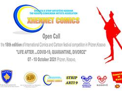 18th International Comics and Cartoon Festival Competition 2021 Prizren Kosovo