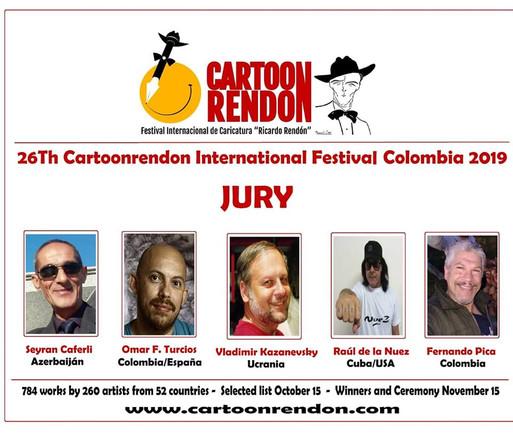 "JURY MEMBERS of the 26th International Cartoon Festival ""RICARDO RENDÓN"". Colombia, 2019"