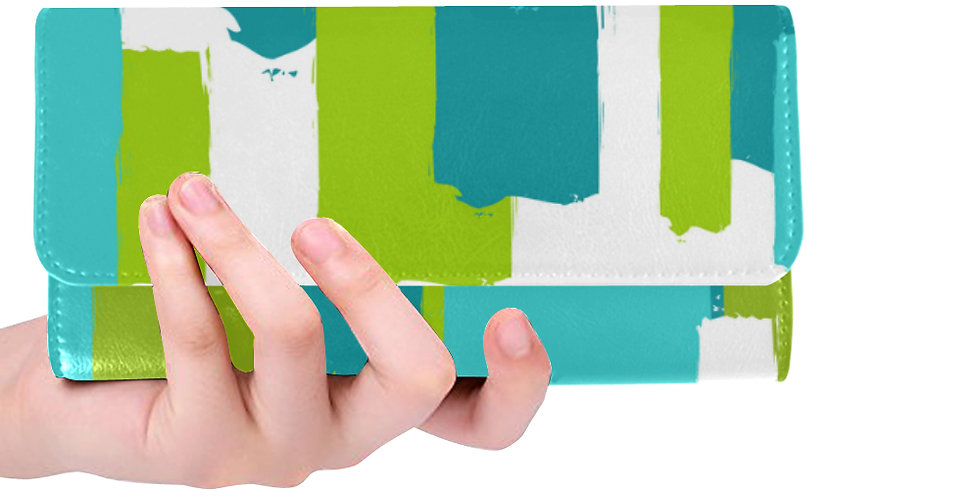 Turquoise/ White/ Green Wallet