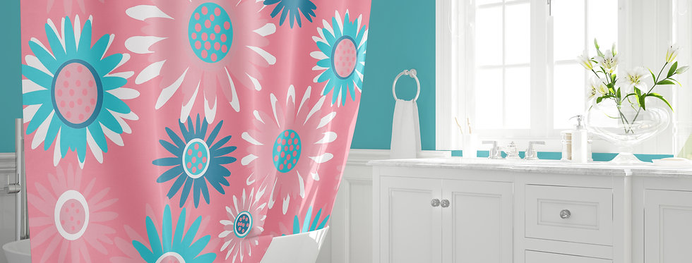 Mid Century Modern Shower Curtain - Perry