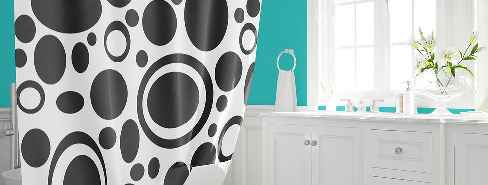 Mid Century Modern  Shower Curtain - Barney