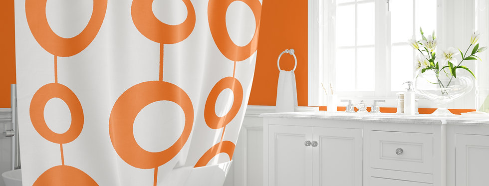 Mid Century Modern Shower Curtain - Roger