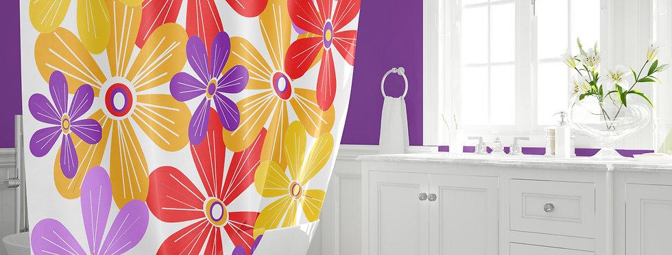Mid Century Modern  Shower Curtain - Emery