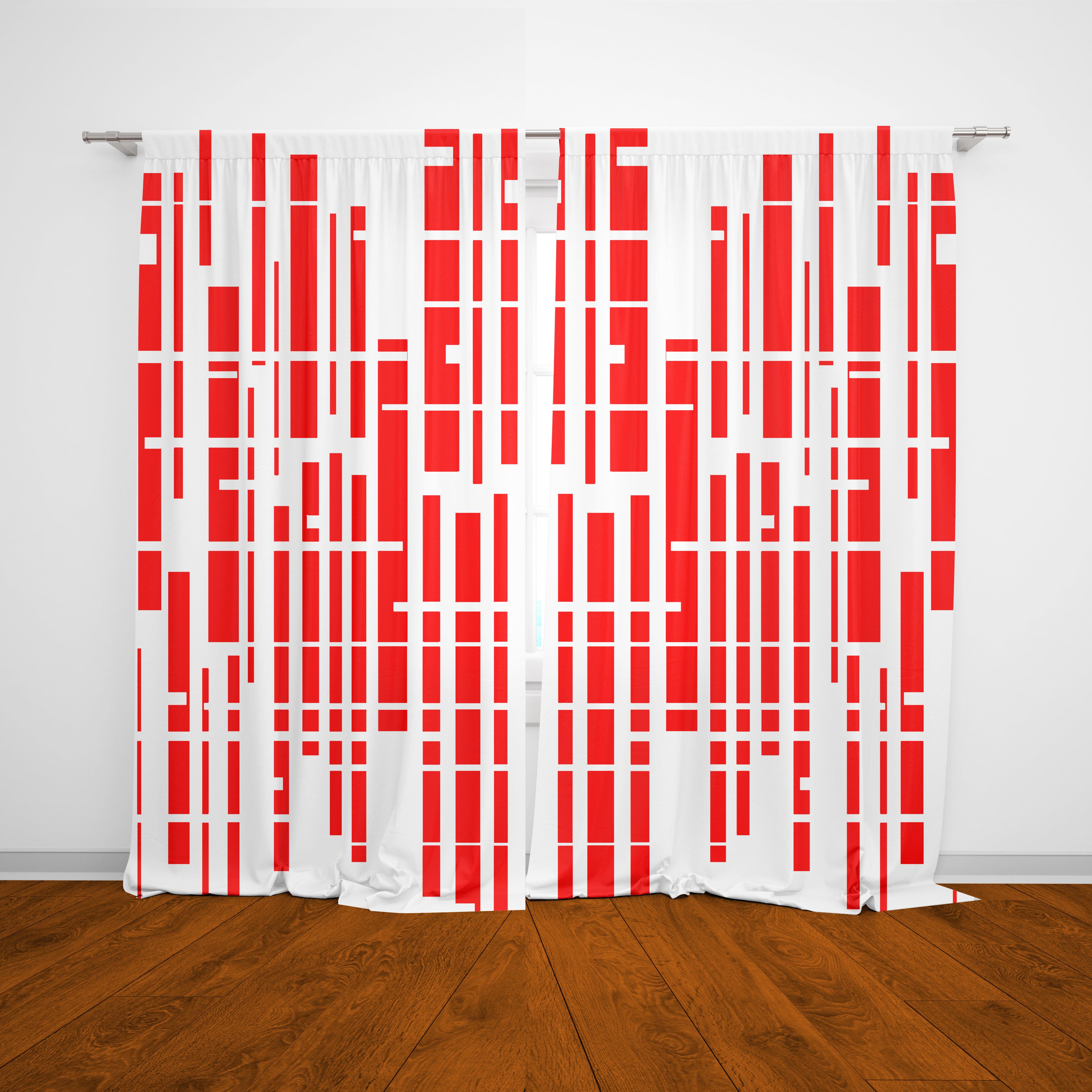 Image of: Mid Century Modern Curtains Morris Crashpaddesigns