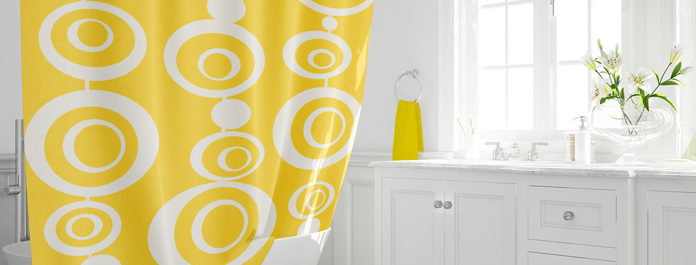 Mid Century Modern Shower Curtain - Jonah