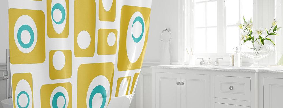 Mid Century Modern Shower Curtain - Alvin